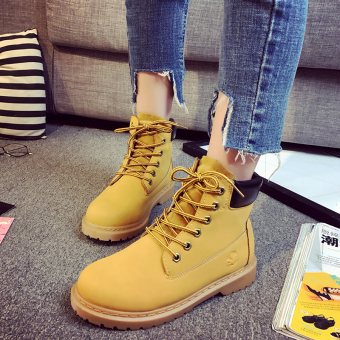 Ulzzang British yellow hight-top short boots Dr. Martens Price Philippines