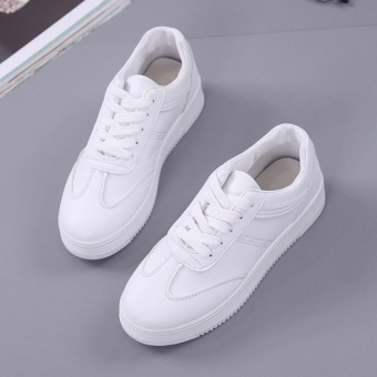 Ulzzang Korean-style New style fall heavy-bottomed casual shoes white shoes (White)