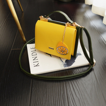 Ulzzang Korean version of female New style bag shoulder bag (Yellow)