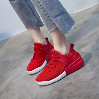 Ulzzang Korean version of female New style shoes sports shoes ([Luxury autumn version] 8808 red)