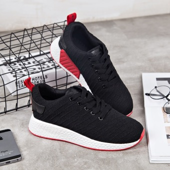 Ulzzang Korean version of female shoes sports shoes (105-2 black)