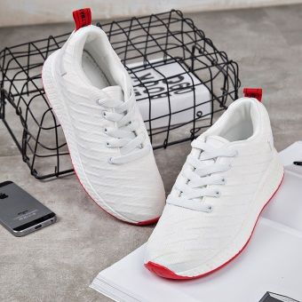 Ulzzang Korean version of female shoes sports shoes (105-2 white) Price in Philippines
