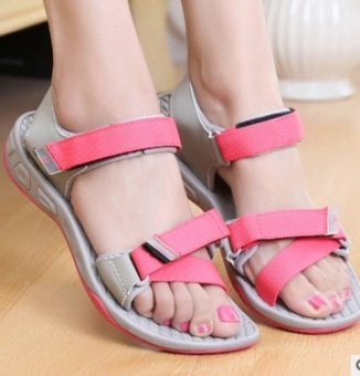 Ulzzang Shishang New style summer student sandals Korean-style sandals (Pink)