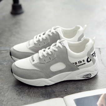 Ulzzang versatile female New style student shoes sports shoes (White)