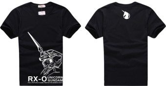Unicorn gundam unicorn short sleeved t-shirt (Black)