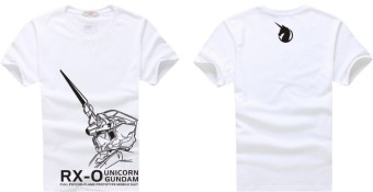 Unicorn gundam unicorn short sleeved t-shirt (White)