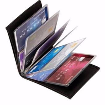 Unisex 24 Cards Wonder Wallet Amazing Slim RFID Wallets-Black