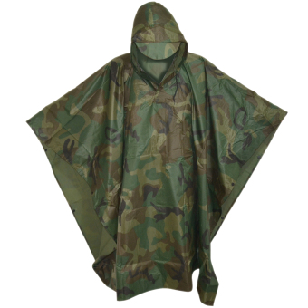 Unisex Digital Casual Poncho Water Proof Rain Coat (Camouflage)