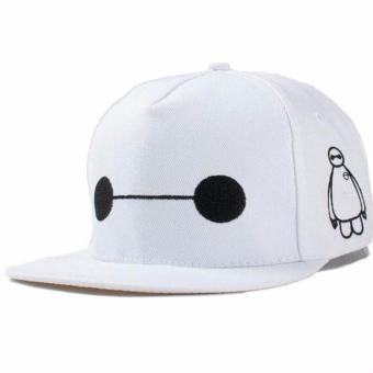 Unisex Fashion Baseball Cap Sports Golf Snapback Solid Hat ForMen/Women (BAYMAX-White)