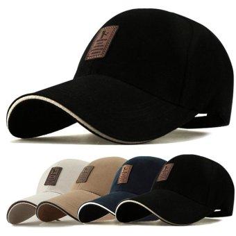 Unisex Fashion Baseball Cap Sports Golf Snapback Solid Hats For Men Bone( black) - 3