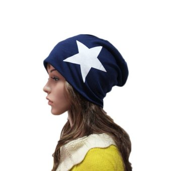 Unisex Five-Star Print Cotton Beanie Ski Caps Hedging Hats