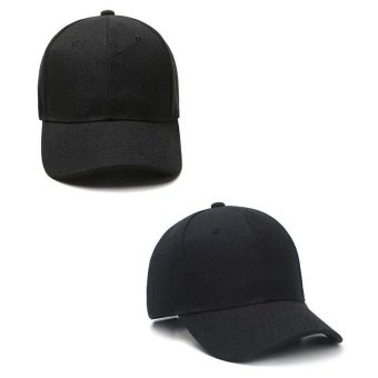 Unisex Men Women Korea Cool Golf Baseball Cap UV Protection Sun block Casual Hat for Outdoor Sport Dancing Cycling Hiking 1453(Black) - intl