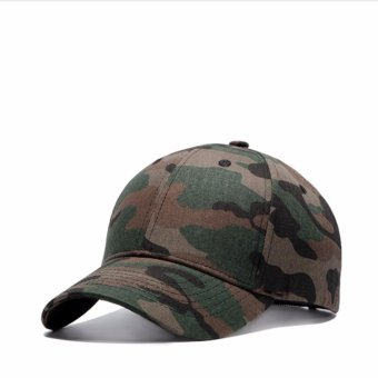 Unisex Mens Womens Boys Baseball Cap Adjustable Camouflager Hats - intl