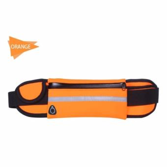 Unisex Travel Running Jogging Cycling Waist Sports Pack Belt BagPhone Pouch(ORANGE)