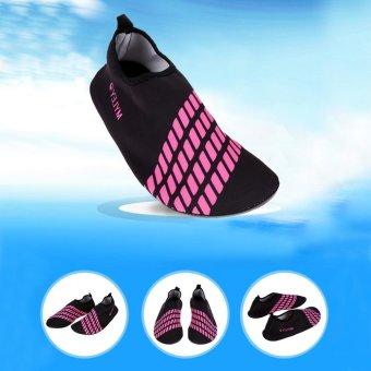 Unisex Ultra Soft Lightweight Diving Water Sport Shoes (Black Pink)- intl - 3