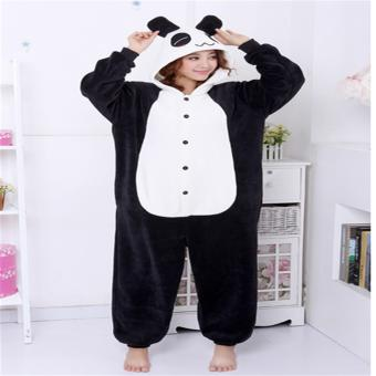Unisex Women Men Adult Cosplay Costume Animal lovely panda Animal Sleepsuit Flannel Pajamas Winter Warm Sleepwear Costume Onesie - intl