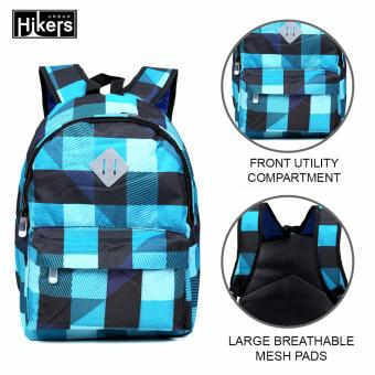 Urban Hikers Clyde Lash Tab Casual Backpack (Blue Checkered)