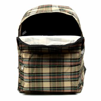 Urban Hikers Clyde Lash Tab Casual Backpack (Light Brown Checkered) - 5