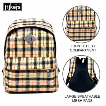 Urban Hikers Clyde Lash Tab Casual Backpack (Yellow Checkered)