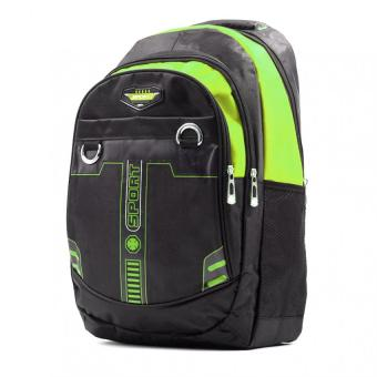 Urban Hikers Linux Sports Casual Daypack Backpack (Black/Green)