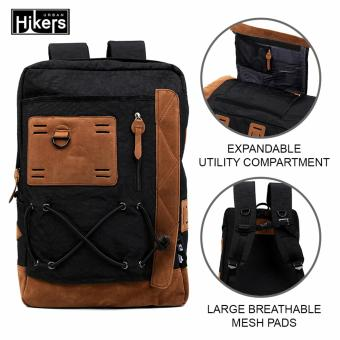 Urban Hikers Tyler Expandable Casual Travel Laptop Backpack (Black)