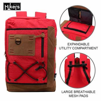Urban Hikers Tyler Expandable Casual Travel Laptop Backpack (Red)