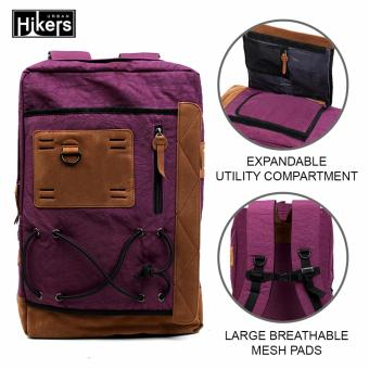 Urban Hikers Tyler Expandable Casual Travel Laptop Backpack(Violet)