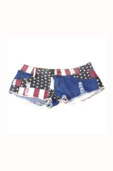 US Flag Mini Shorts - Multicolour - picture 2