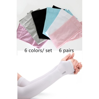 UV Protection Cooler Arm Sleeves for Bike/Hiking/Golf (6 Pairs) -intl
