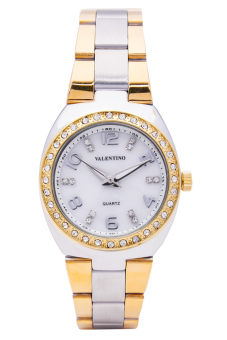 Valentino Women's Gold/Silver Stainless Steel Band Watch 20121790