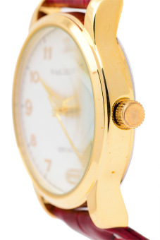 Valentino Women's Red Leather Strap Watch 20121245 - picture 2
