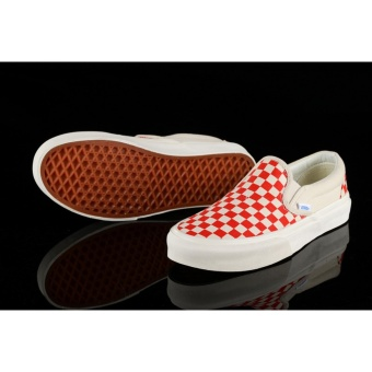 Vans classic neutral slide (spring Amoi pattern) red and whiteshoes - intl - 2