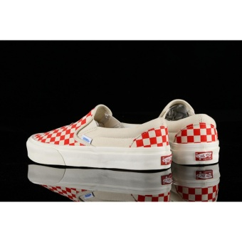 Vans classic neutral slide (spring Amoi pattern) red and whiteshoes - intl - 4
