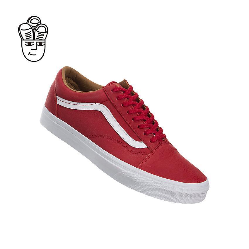 Vans Old Skool Premium - Course Rouge / Blanc Vrai 4fSgTk