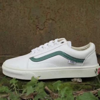 Vans Unisex Old Skool Skate Shoe (green White) - intl