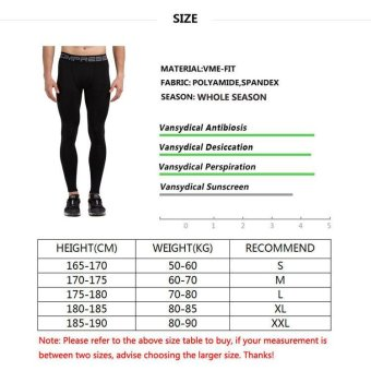 Detail Images VANSYDICAL Men Compression Pants Leggings Elasticity Quickly Dry Tight Pants Fitness Yoga Pants (