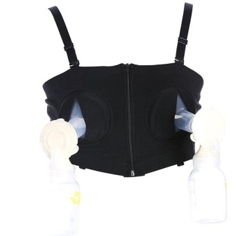 Varsbaby Maternity Hands-Free Breast Pump Bra(Black)