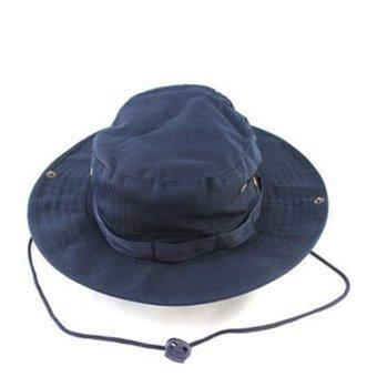 Velishy Brim Military Sun Hat (Blue)