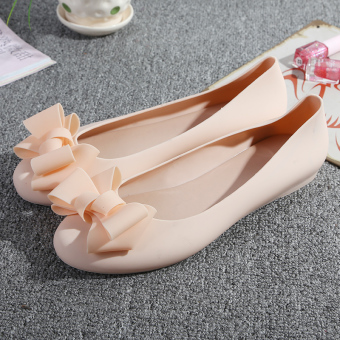 Versatile female New style Flat plastic sandals gel shoes (Lotus color/flowers)