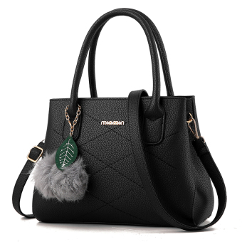Versatile shoulder Shell bag women's bag (Black)