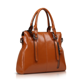 Versitile fashion female handbag women's bag (Brown to send carrying wallet + card holder)