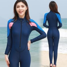 Imitation Shark Skin Waterproof Knee Length Professional Swimwear Diving Surfing One-piece .