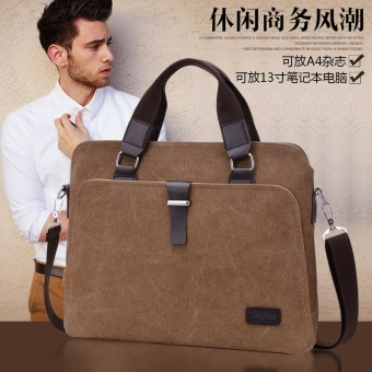 Vintage Crossbody Bag Military Canvas Shoulder Bags Men Messenger Bag Men Casual Handbag Tote Business Briefcase For Computer-brown - intl