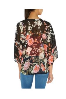 Vintage Floral Loose Kimono Cardigan (Multicolor) - Intl - 2