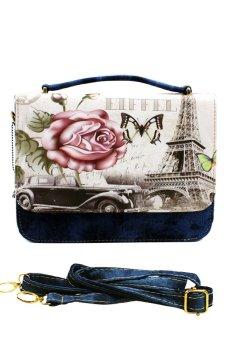 Vintage Paris Demi Denim Satchel 0018 (Eiffel)