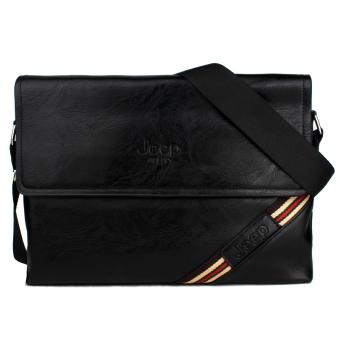 Vintage Paris Tyler Messenger Sling Bag (Black)