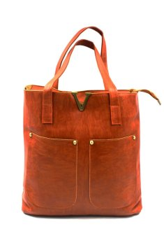 Vintage Paris Veron Leather Shoulder Bag (Dark Brown) - 2