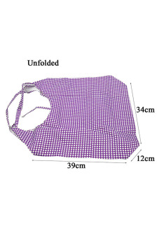 Vococal Waterproof Folding Shopping Bag (Purple) - picture 2