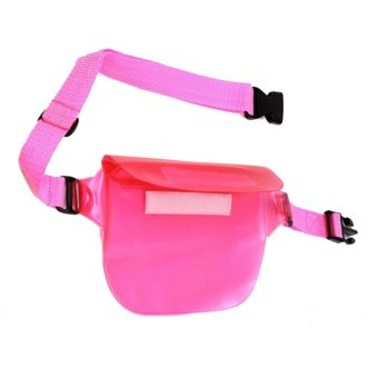 Vococal Waterproof Transparent Waist Bag (Pink)