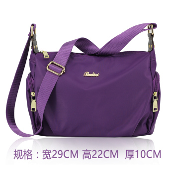 Waterproof backpack nylon women's bag (Purple)